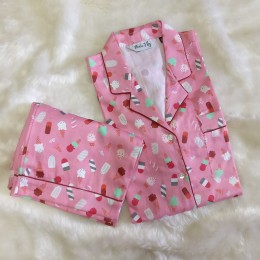 Pink Popsicles Pyjama Set - For Adults