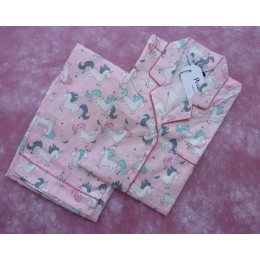 Pink Unicorns Pyjama Set - For Kids