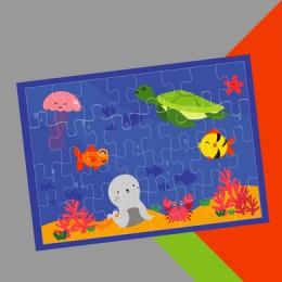 Colour Me In Puzzle - Sea