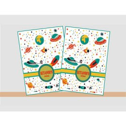 Space Theme Note book