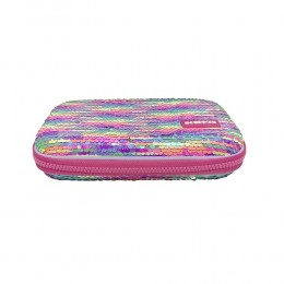 Rainbow In Neon Sequins Mini Eva Pen And Pencil Case
