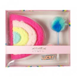 Rainbow Plush Diary Gift Set
