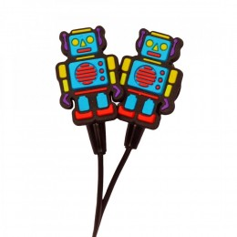 Robot Charm Earbuds