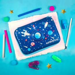 Space Led Light Eva Pen And Pencil Case