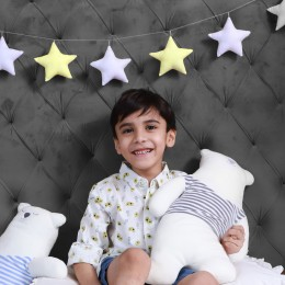 Star Bunting for Baby - Yellow