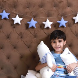 Star Bunting for Kids - Blue
