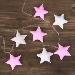 Star Bunting for Baby - Pink