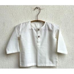 Unisex Organic Essential White Kurta with Mint Pants