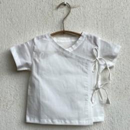 Unisex Organic White Angrakha Top and Mint Pants
