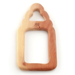 Wooden Teethers - Pacifier and Milk bottle-1