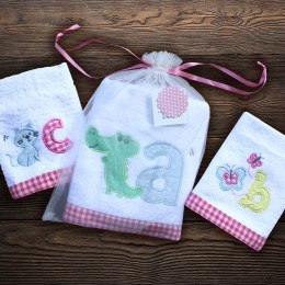 ABC Time - Bath n Hand towel set