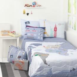 Around The World Bedding - Blue