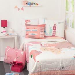 Around The World Bedding - Pink