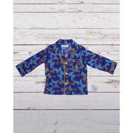 Blue Butterflies Night Suit