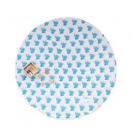 Blue Dreamy ele hand block print Playmat