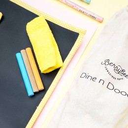 Dine N Doodee Mat- Yellow