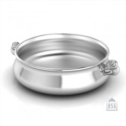 Sterling Silver Bowl for Baby and Child - Elephant Feeding Porringer