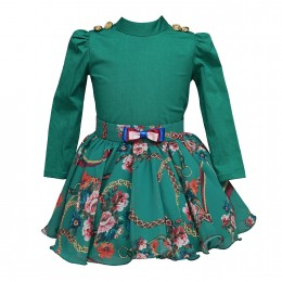 Green Dragonfly Co-ord Skirt Set