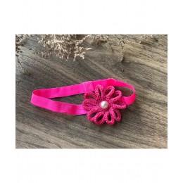 Loop Flower Elastic Hairband - Fresh Pink