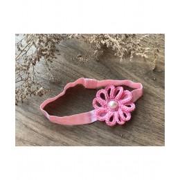 Loop Flower Elastic Hairband - Pink