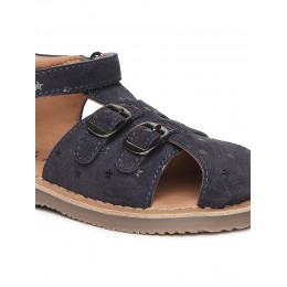 Navy Blue Solid Sandals