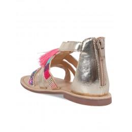 Pebble Gold Embellished Sandals