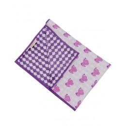 Pink Dreamy Ele Hand Block Print Dohar Blanket
