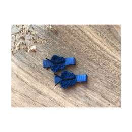 Quick Butterfly Aliigator Clips - Navy