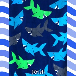 Shark War Printed Towel