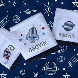 Space Adventure - Bath n Hand Towel set