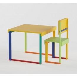 Technicolor Study Table & Chair