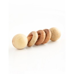 Wooden Rattle - Dumbbell with Rings