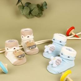 Circus Cuties Blue and Brown 3D Socks- 2 Pack