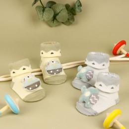 Circus Cuties Grey & Yellow 3D Socks- 2 Pack
