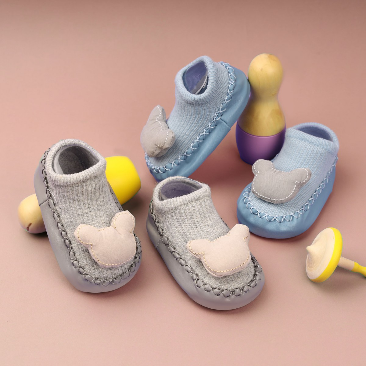 Mighty Mouse Baby Booties- 2 Pack