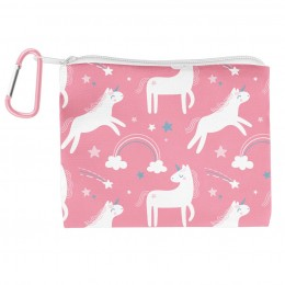 Adjustable Mask with Zipper Pouch Unicorn