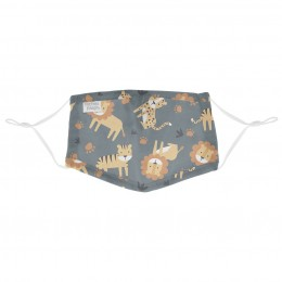 Adjustable Mask with Zipper Pouch Zoo