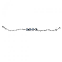 Sterling Silver Baby Kubes BHAI Dice Bracelet - Blue