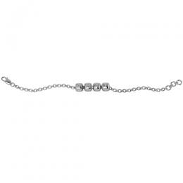 Sterling Silver Baby Kubes BHAI Dice Bracelet -Plain