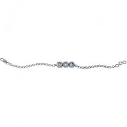 Sterling Silver Baby Kubes BRO Dice Bracelet - Blue