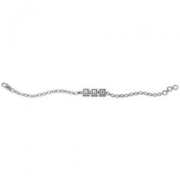 Sterling Silver Baby Kubes BRO Square Bracelet - Oxidised