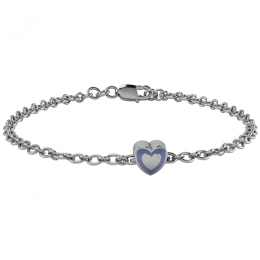 Sterling Silver Babykubes Gifting Heart Bracelet for Baby and Child