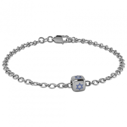 Sterling Silver Babykubes Gifting Star Dice Bracelet for Baby and Child