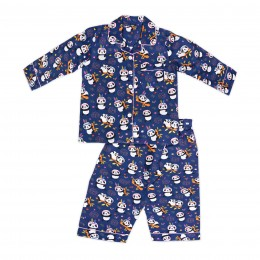 Blue tribal panda nightsuit - Kids