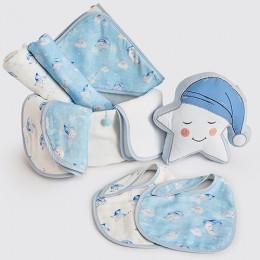 Bundle of Love - Organic Muslin Gift Hamper (Celestial - Blue)