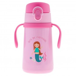 Double Wall SS Bottle with Handle Mermaid