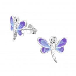 Dragonfly Purple Earrings