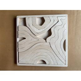 Four Element Stacker Puzzle Tray