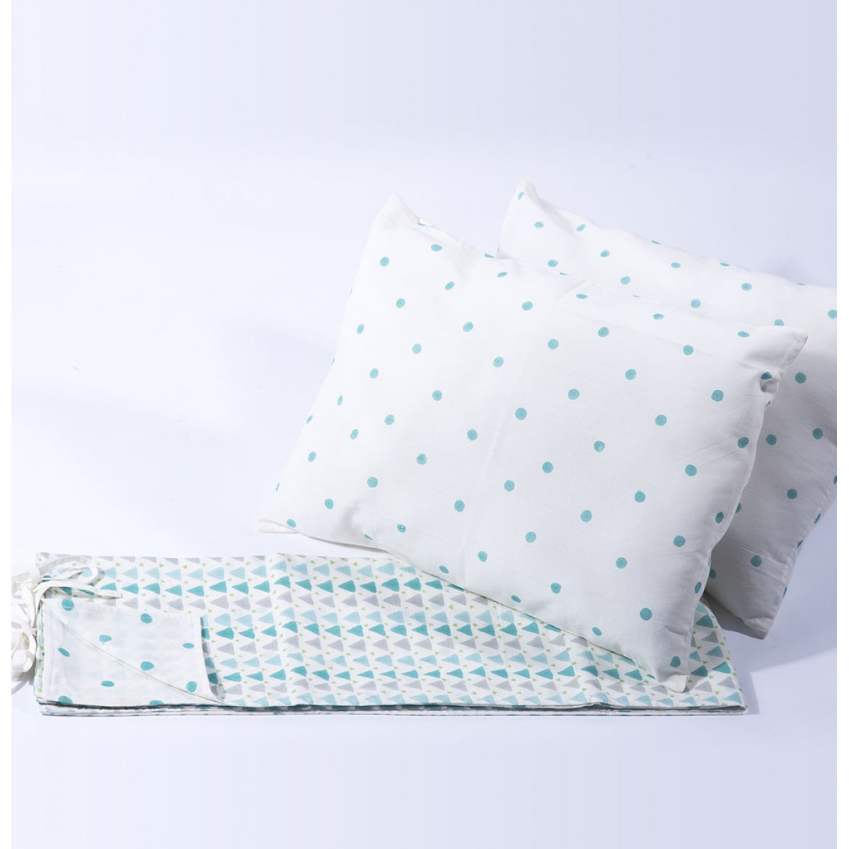 Geometry Blue Junior Bed Set