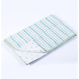 Geometry Blue Toddler Blanket